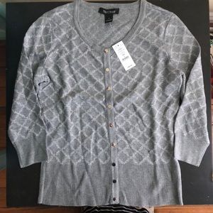 White House black market gray cardigan